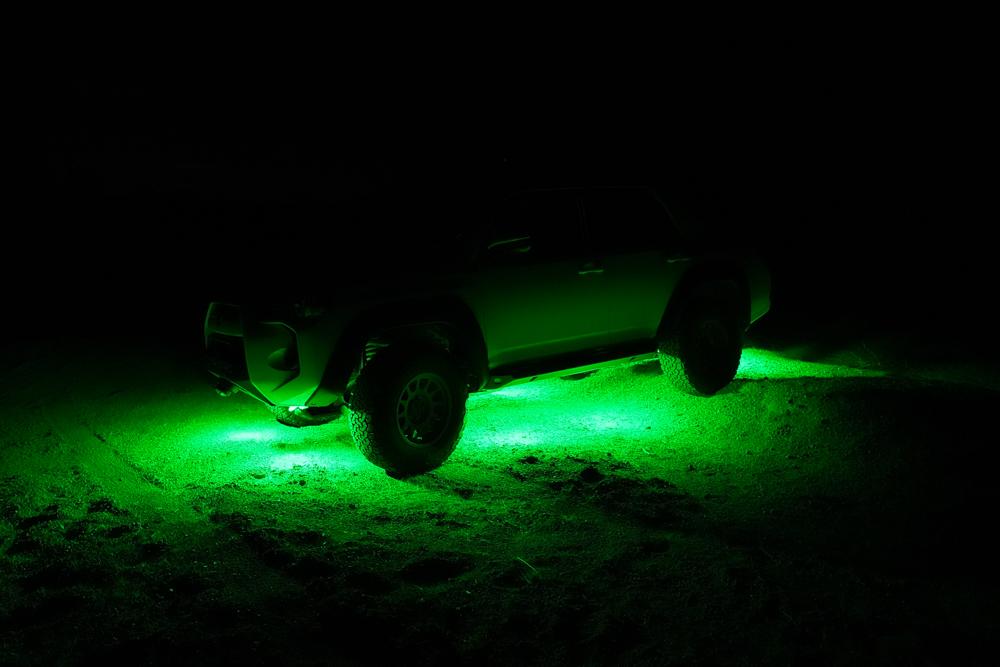 5th Gen 4Runner Green Under Glow Rock Lights
