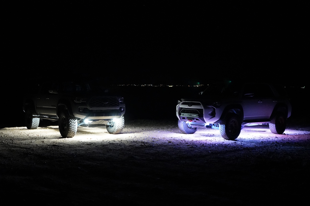 Toyota 4Runner and Tacoma Under Glow Rock Lighting