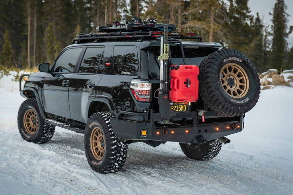 5th Gen 4Runner Overland Build Rear Tire Swingout