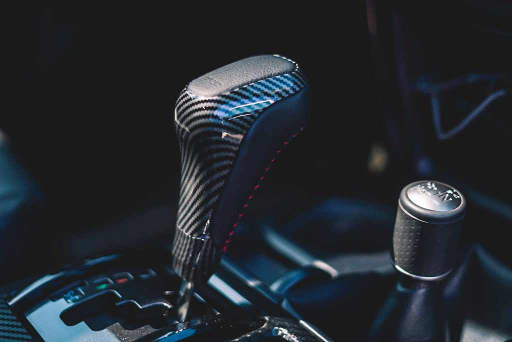 Carbon Fiber TRD Shift Knob with Red Stitching