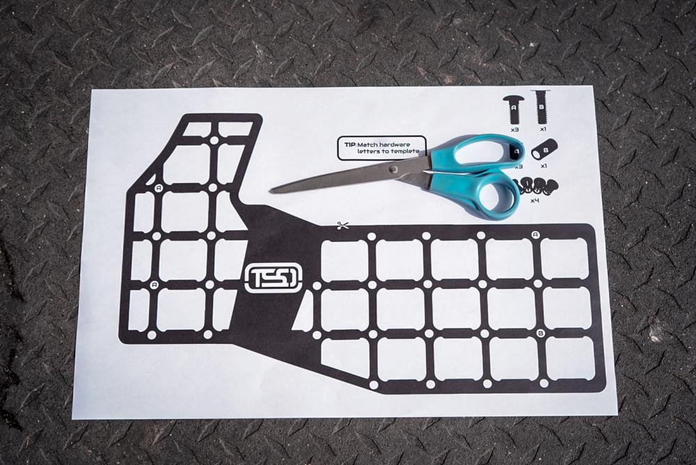 TSO Molle Panel Cutout Template