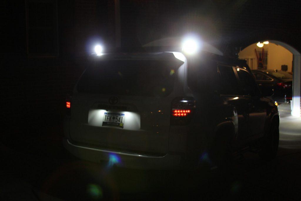 5th Gen 4Runner Lasfit LED Pods Reverse Lights
