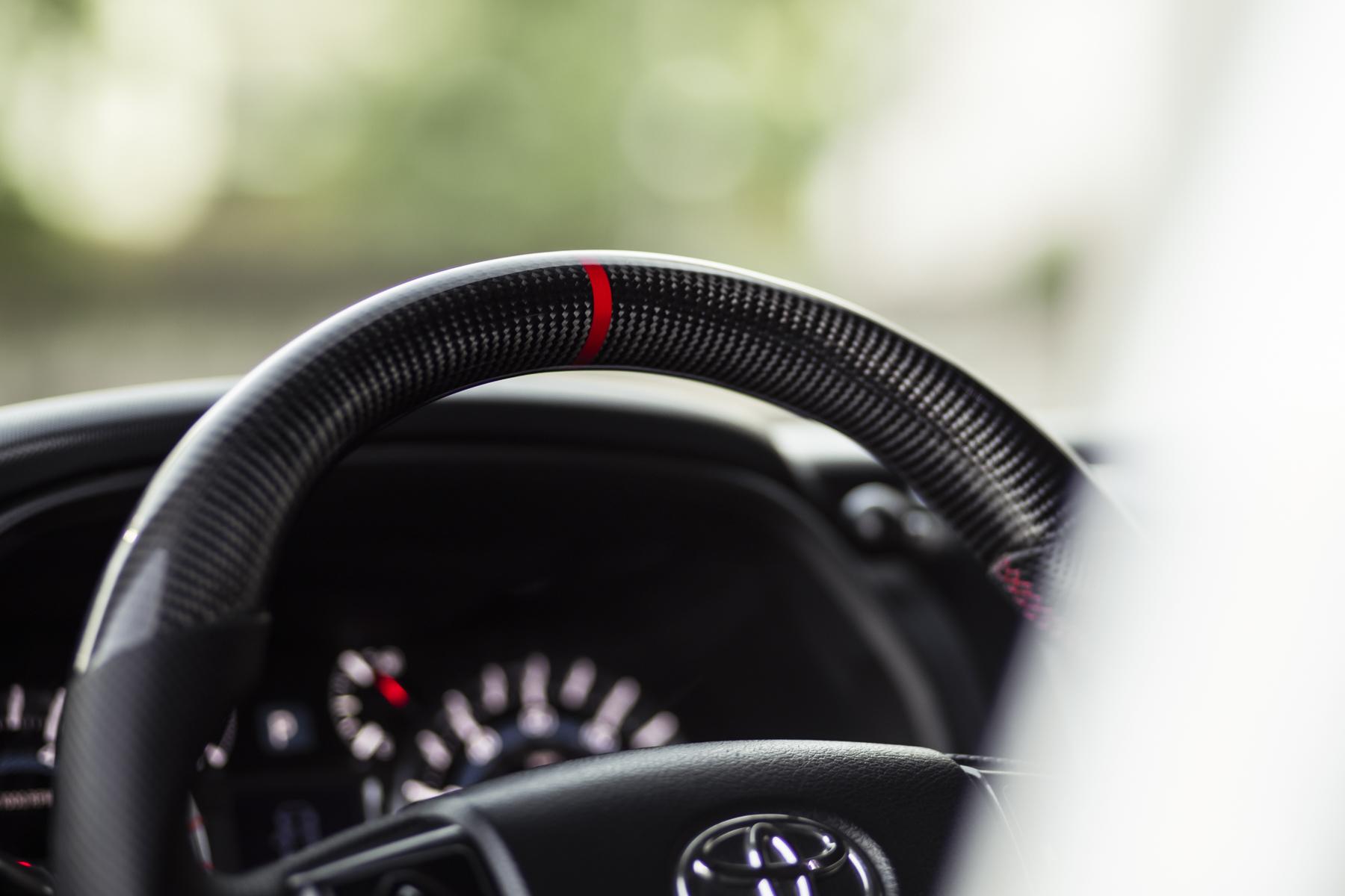 Carbon Fiber Steering Wheel on Toyota 4Runner