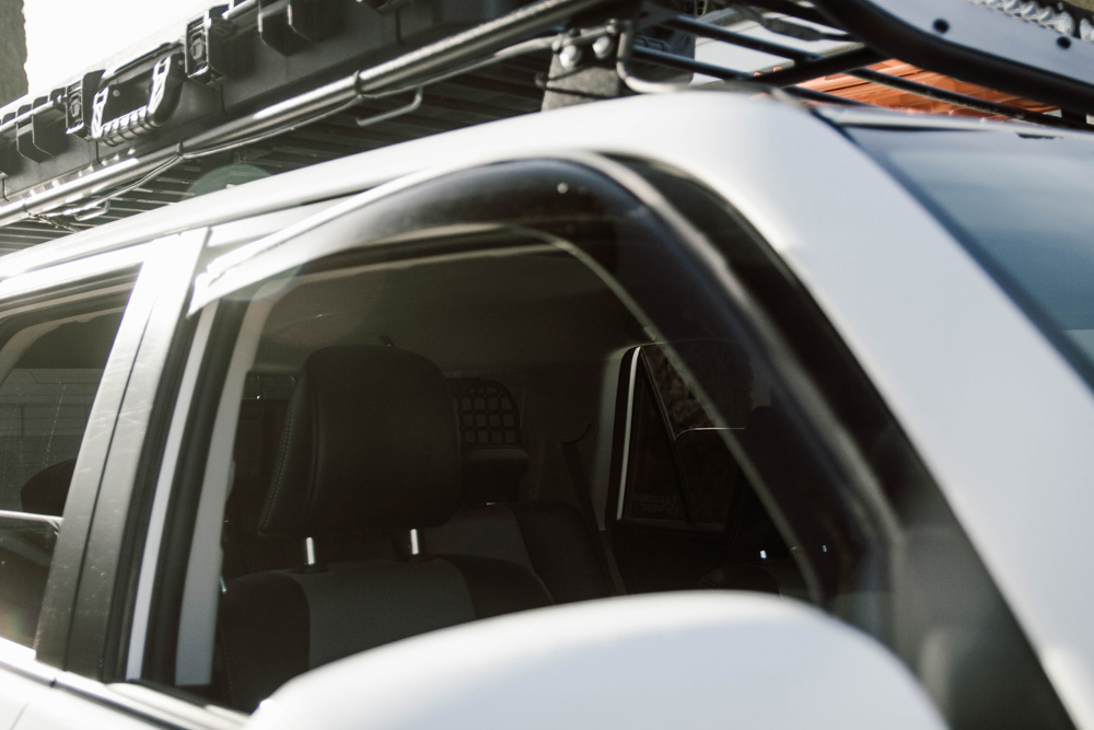 WeatherTech Side Window Deflectors Step-By-Step Install and Review For the 5th Gen 4Runner