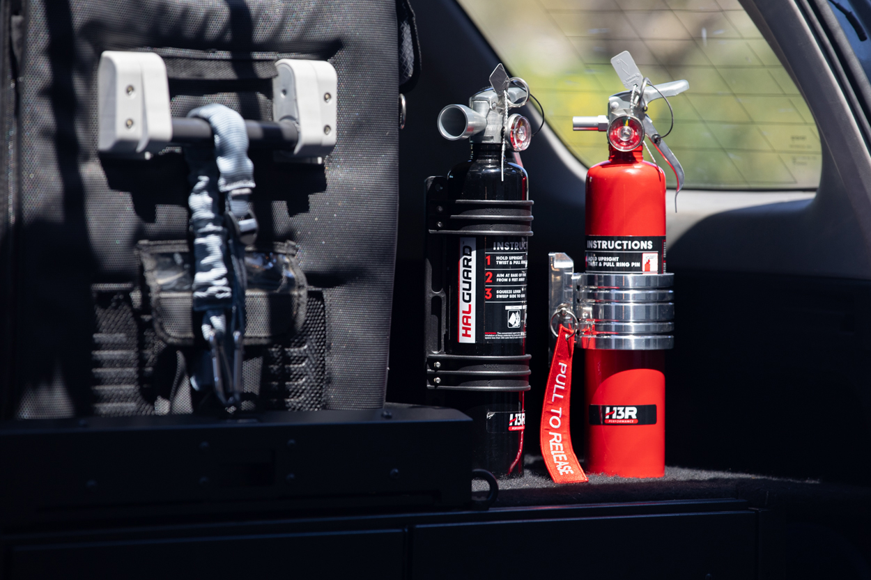 Fire Extinguisher Access When Off-Roading