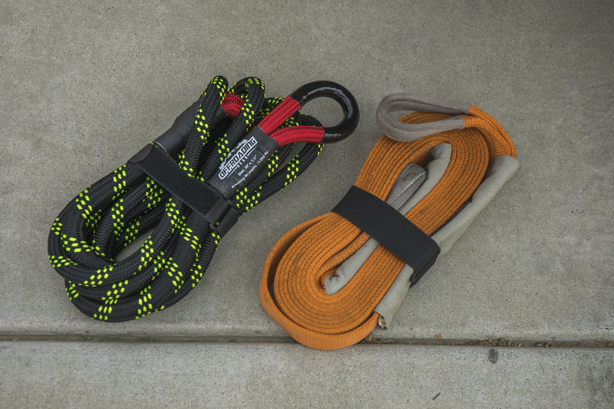 Offroading Gear Kinetic Recovery Snatch Rope Vs. ARB Snatch Strap